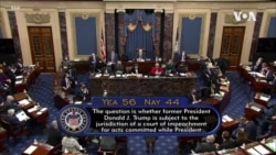 美參議院經過表決將彈劾審判繼續下去
