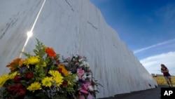 Hoa tại đài tưởng niệm sự kiện 11/9 ở Pennsylvania