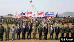 美国和泰国共同主办的金色眼镜蛇多国军演2017年2月14日开幕(美国军方照片)