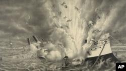 1898年缅因号在哈瓦那港口爆炸沉没