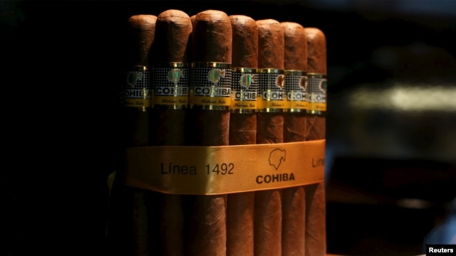 Cohiba cigars are seen on display at the XVIII Habanos Festival in Havana, Cuba, Feb. 29, 2016.
