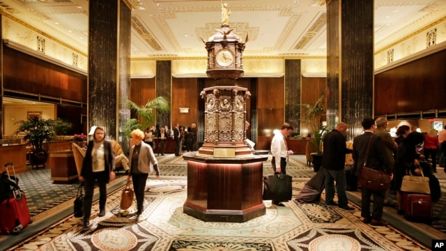 The lobby of New York's Waldorf Astoria hotel, Oct. 6, 2014.