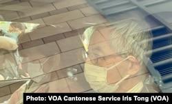 82岁的资深大律师李柱铭争取香港民主自由超过30年,4月1日因反送中运动维园8-18案被定罪,他在判决后乘车离开法院 (美国之音/汤惠芸)