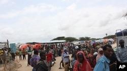 Badbaado refugee camp in Somalia's capital, Mogadishu, August 11, 2011