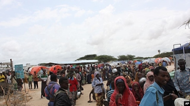 Badbaado refugee camp in Somalia's capital, Mogadishu, August 11, 2011