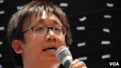香港民間反對國民教育科大聯盟發言人沈偉男