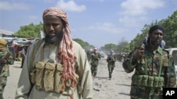 Sheikh Muktar Robow - leader of al-Shabab in Somalia (file photo)