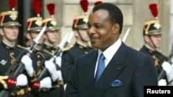 Rais wa Jamhuri ya Congo , Denis Sassou N'Guesso.