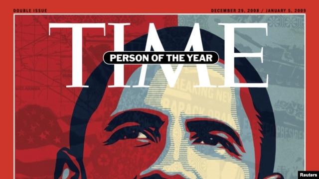 """Obama fue nombrado también """"El Personaje del Año"""" por la revista Time en 2008 al convertirse en el primer presidente afroamericano de EE.UU."""