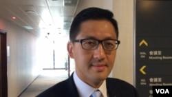 香港立法會議員林卓廷 (美國之音記者申華拍攝 )