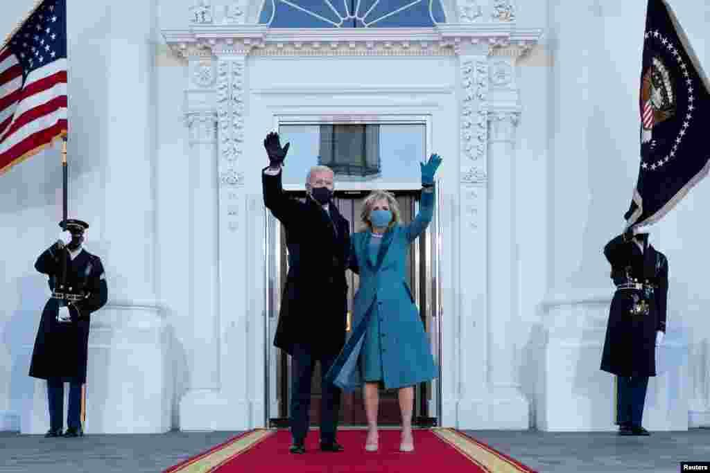 အေမရိကန္သမၼတသစ္ Joe Biden၊ ဇနီး Jill Biden။