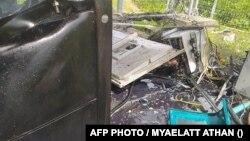 Một cơ sở viễn thông của Mytel - liên doanh giữa quân đội Myanmar và Viettel của VN - bị tấn công trong tháng 9/2021.
