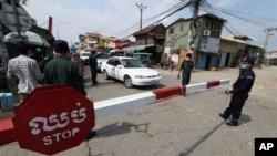 Đường sá ở thủ đô Phnom Penh bị phong tỏa vào ngày 15/4