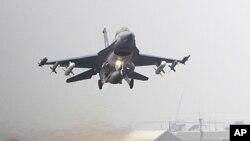 美國生產的F-16戰機(資料圖片)參與台灣軍方星期四舉行的一次重要軍事演習。