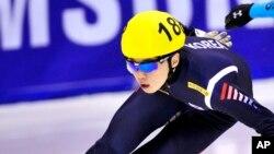 Noh giành ngôi vô địch nội dung trượt băng tốc độ cự ly ngắn của Hội trượt băng Quốc tế năm 2011 khi mới 18 tuổi. (Ảnh tư liệu)
