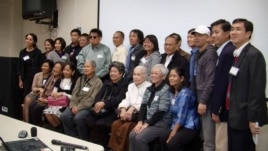 Cambodian-American victims of the Khmer Rouge who filed with the court in Cambodia met in Virginia last week to get updates from the UN-backed trials of three former regime leaders.
