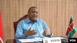 Le président du Kenya, Uhuru Kenyatta. (VOA)