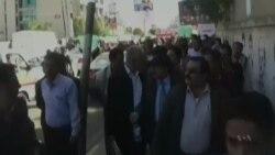 یمن کې یاغیانو قبضې خلاف مظاهرې