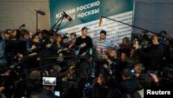 Алексей Навальный (в центре). Москва. 8 сентября 2013 г.