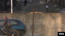 Pamje nga cepi verior i urës kryesore në Mitrovicë