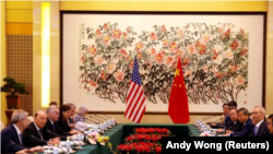 Predstavnici SAD i Kine na razgovorima u Vašingtonu 3. juna 2018.