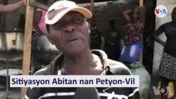 Kèk Abitan nan Petyion Vil Eksprime yo Fas ak Kriz Politik la