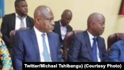 Martin Fayulu (G) na Adolph Muzito (D), Kinshasa, 27 août 2019. (Twitter/Michael Tshibangu)