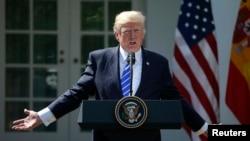 美国川普总统在白宫玫瑰园举行的记者会上讲话(2017年9月26日)