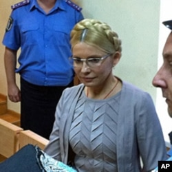 Former Ukrainian Prime Minister Yulia Tymoshenko at a court hearing in Kyiv, Aug 11, 2011