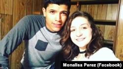 Monalisa Perez et son petit-ami Pedro Ruiz-Perez sur Youtube.
