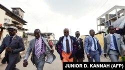 Des sapeurs congolais à Brazzaville, le 16 mars 2014. Aurlus Mabélé était l'une des figures de proue du mouvement de la sape. (Photo: Junior D. Kannah / AFP)