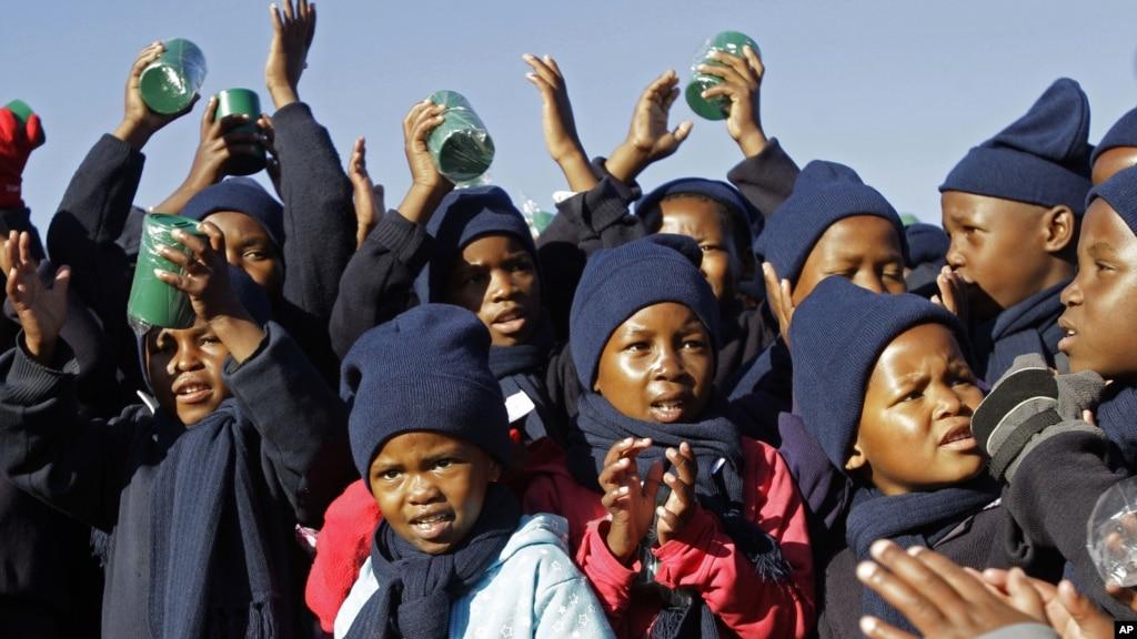 African Kids Dancing Happy Birthday