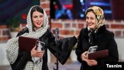 مریلا زارعی و لیلا حاتمی با هم برنده بهترین نقش زن شدند. عکس: حامد ملکپور