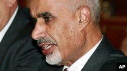 24일 미국 뉴욕에서 힐러리 클린턴 미 국무장관과 면담한 모하메드 엘 마가리프 리비아 대통령. (자료 사진)