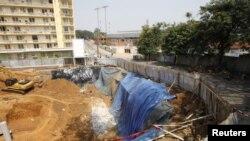 L'endroit où s'est produit la bousculade dans le quartier du Plateau à Abidjan