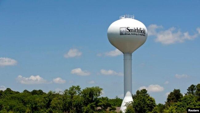 弗吉尼亚州史密斯菲尔德,一座印有