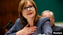 La directora ejecutiva de General Motors (GM), Mary Barra, testificó ante el Congreso.