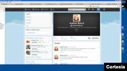 La ejecutiva Justine Sacco escribió un tuit de 53 caracteres que le costaron su trabajo.[Foto: Cortesía, cuenta de Twitter Justine Sacco].