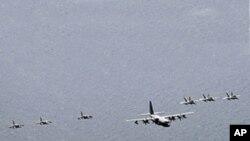 Porta avioes americano a caminho da Coreia