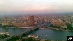 Mto Nile unapita mbele ya jiji la Cairo nchini Misri