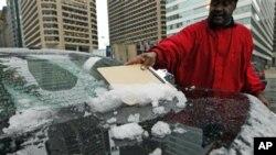 宾夕法尼亚,康涅狄格和新泽西州部分地区降下多达创记录的30厘米大雪