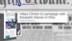 VOA60 Elections - CNN: Hillary Clinton invited Elizabeth Warren to join her rally in Cincinnati