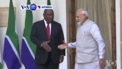 VOA60 Afirka: Shugaban Afrika Ta kudu Cyril Ramaphosa Da Firaministan Kasar India Marendra Modi Sun Kulla Yarjejeniyar Huldar Kasuwanci