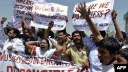 Warga Pakistan melakukan protes anti serangan pesawat tanpa awak (foto: dok). Banyaknya korban sipil akibat serangan pesawat tanpa awak telah meningkatkan sentimen anti AS.