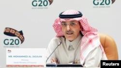 Menteri KeuanganMohammed Al-Jadaan di Riyadh, Arab Saudi, 23 Februari 2020. (Foto: dok).