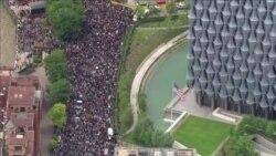 英國倫敦週末週日示威 聲援美國抗議者