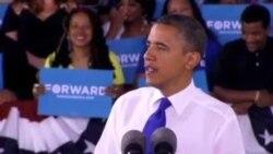 奥巴马和罗姆尼进行辩论会最后准备工作