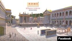 Menjelajah masa kejayaan Romawi Kuno dengan teknologi teletour yang dikembangkan oleh Flyover Zone. (Facebook/FlyoverZone).