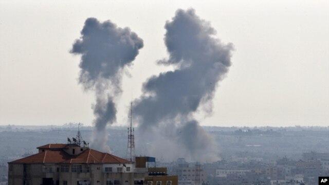 G'azo shahri Isroil havo hujumidan so'ng, 15-noyabr, 2012-yil.