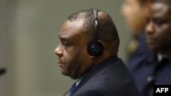 L'ancien vice-président congolais Jean-Pierre Bemba dans la salle d'audience de la Cour pénale internationale (CPI) à La Haye le 21 juin 2016.